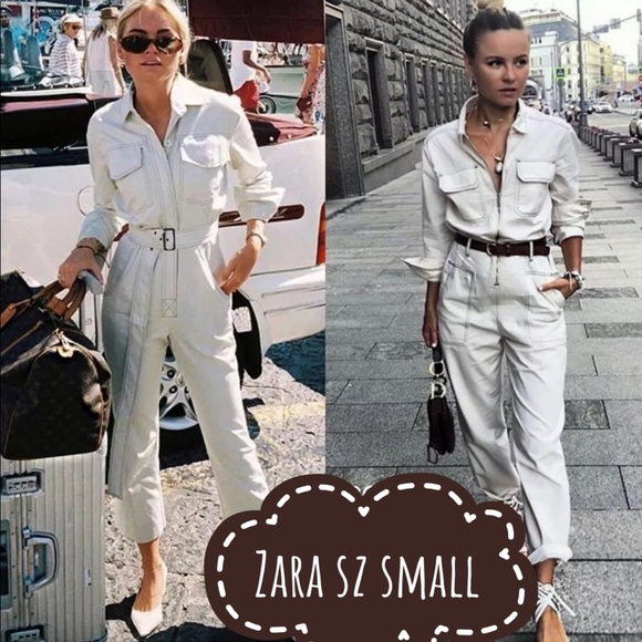 9c3dad46 Zara Pants | Jumpsuit Contrasting Stitching Ref 9632064 | Poshmark